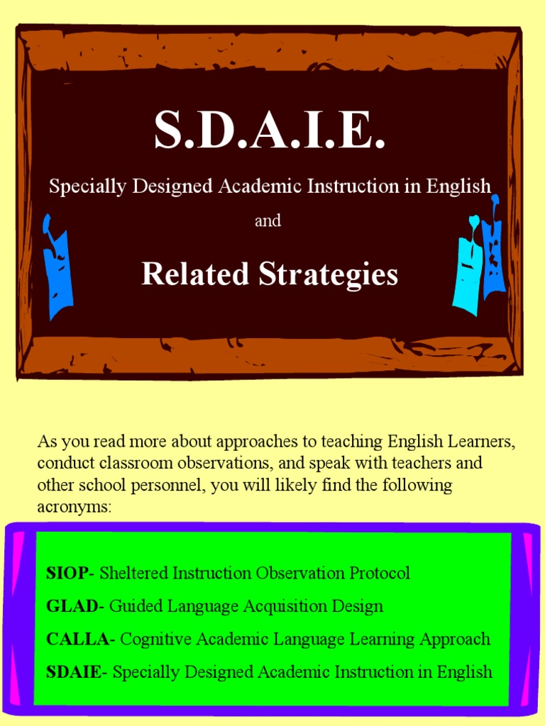 Unit One Lecture Three Sdaie 2 English As A Second Or Foreign Language Educational Psychology