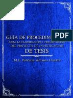 Guía de procedimientos para la elaboración y presentación del proyecto de investigación de tesis