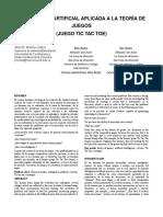 Articulo Tic Tac Toe