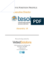 Tesol Executive Director Position Profile