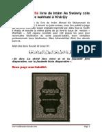 Wahhabi Falsifié Livre de Imâm as Swâwiy Cote Li Compare Wahhabi à Khârijiy
