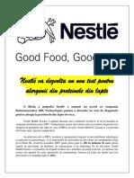 Nestlé va dezvolta un nou test pentru alergenii din proteinele din lapte