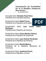 Discurso de Juramentación del Presidente Danilo Medina ante la Asamblea Nacional-16 de Agosto de 2016