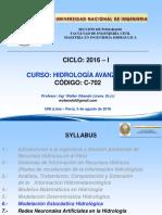 1600 Clase 13 Cap 6 Hidrología Estocástica 6 Ago 2016