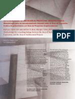 Inve_mem_2015_226600 Reflexión Sobre La Iniciación Al Proyectar Arquitectónico.