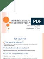 Diferencias Entre Sindicato y Empresa
