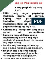 Mga Batayan Sa Pag-iimbak Ng Pagkain