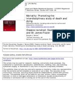 DAVIES, Douglas. Classics Revosited Death, Immortality and Sir James Frazer
