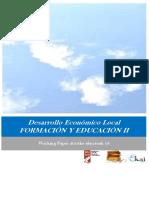 Desarrollo Económico Local. FORMACIÓN Y EDUCACIÓN II