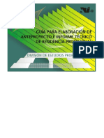 Guía Para Elaboración de Anteproyectos e Informe Técnico de RP _ Final - 5 Guia Elaboracion de Anteproyectos e Informe Tecnico EBC