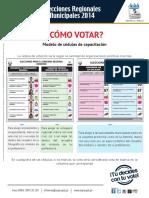 Como Votar - Regional - Provincial y Distrital