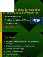 Decision making for the selection of appropriate waste treatment technology