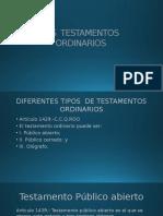 Los Testamentos Ordinarios