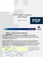 DTM Paging-Coordination Impact Report KPI Snapshots