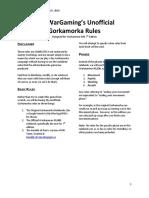 MiniWarGaming's Gorkamorka Rules