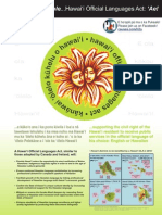 Hawai'i Official Languages Act Flyer