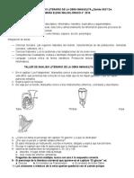 Taller de Analisis Literario de La Obra Manuelita (1)