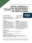 2009 Almeyra y Suarez Sindicalizacion Sindicatos y Experiencias Extrasindicales