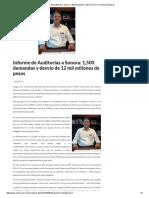 15/08/16 Informe de Auditorías a Sonora