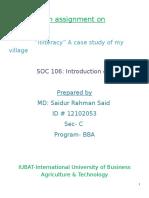 Illiteracy Report