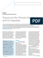 Dent Update 2013. Trauma to the Primary Dentition Its Sequelae