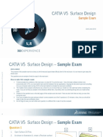 CATIA V5 Surface Design Sample Exam