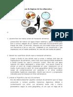 10 Medidas Básicas de Higiene de Los Alimentos