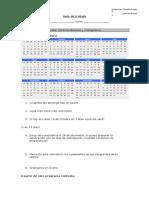 Guía de Trabajo Calendario y Cornograma