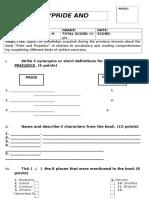 PRIDE AND PREJUDICE TEST.docx