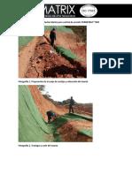 Registro Fotográfico Instalación Manto Para Control de Erosión TERRATRAC TRM15