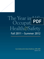 The Year in US Occupational Health & Safety 2012