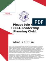 join fccla club