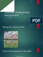 summer biodiversity assignment