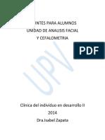 Apuntes Unidad de Analisis Facia y Cefalometria 2014 CID II