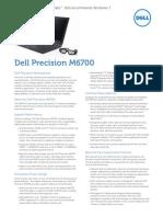 Dell Precision m6700 Datasheet
