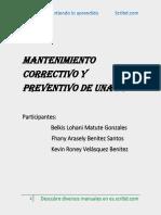 Mantenimiento correctivo y preventivo