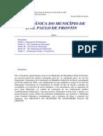 Lei Orgânica Do Município Eng. Paulo de Frontin