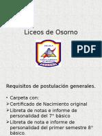 Liceos de Osorno