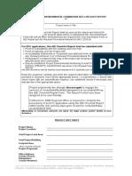 GENERIC IEE Checklist Form