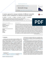01-A System Approach in Energy Evaluation of Different Renewable Energies Sources Integration in Ammonia Production Plants