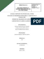 Práctica 2. Reconocimiento y Desnaturalización de Las Proteínas