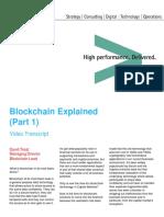 Accenture Blockchain Part1 David Treat Video Transcript