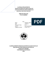 Laporan Teknologi Praktikum Pengolahan Pangan - Minyak