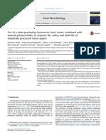Uso de Una Cepa de Lactococcus Lactis Productor de Nisina, En Combinación Con Antimicrobianos Naturales, Para Mejorar La Seguridad y La Vida de Almacenamiento de Las Manzanas en Rodajas Mínimamente Proc