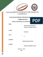 Población Económicamente Activa en La Región Huánuco