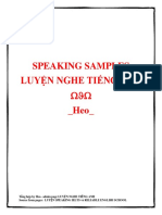 Speaking Sample for Practice
