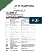 Comandos de Transmisión de Datos