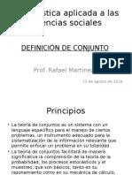 Estadística Aplicada a Las Ciencias Sociales