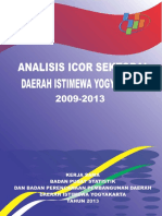 Analisis ICOR Sektoral DIY 2009-2013