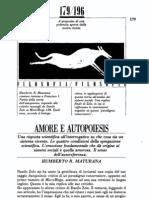 H. R. Maturana - Amore e Autopoiesis